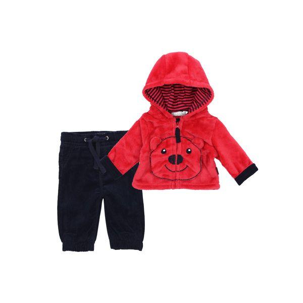 Conjunto-BB-Niño-Piel-Teddy-Rojo
