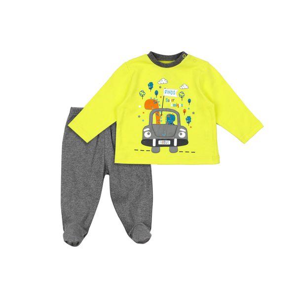 Pijama-BB-Niño-2-Piezas-Dinos-Amarillo