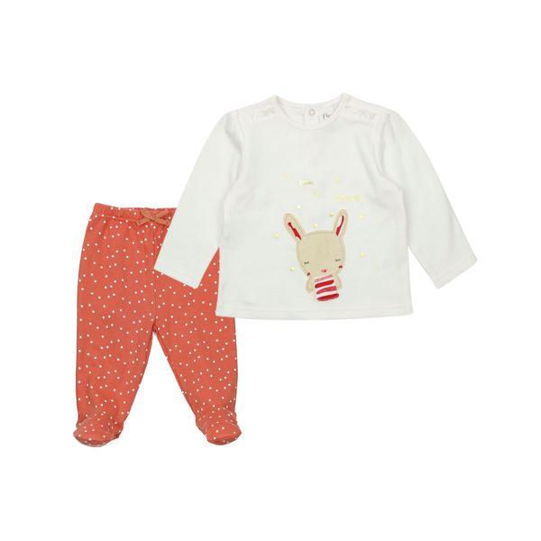 Pijama-BB-Niña-2-Piezas-Algodon-Miss-Bunny-Blanco