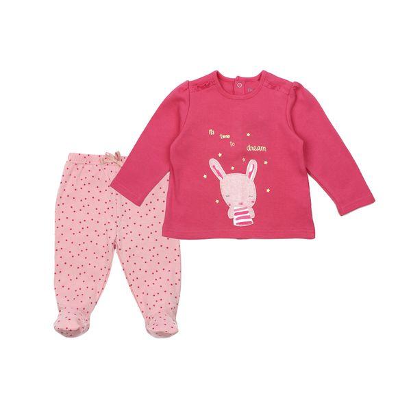 Pijama-BB-Niña-2-Piezas-Algodon-Miss-Bunny-Fucsia