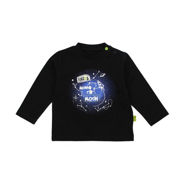 Polera-BB-Niño-Space-Negro
