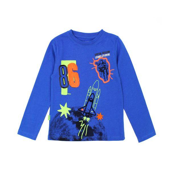 Polera-KIDS-Niño-Cosmos-Azul