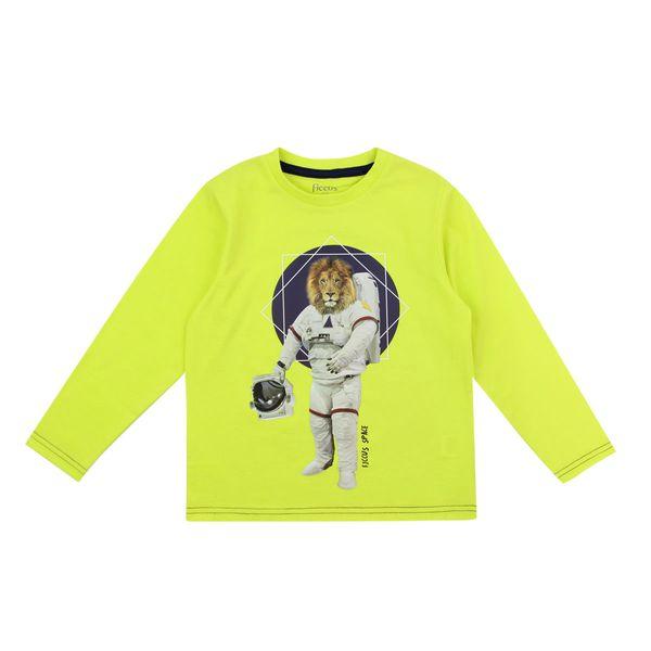Polera-KIDS-Niño-Costuras-Cosmos-Verde