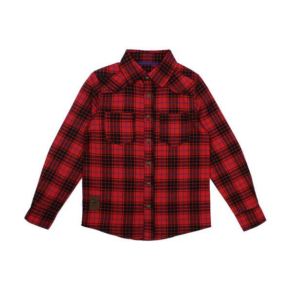 Camisa-KIDS-Niño-Escoces-Wild-Rojo