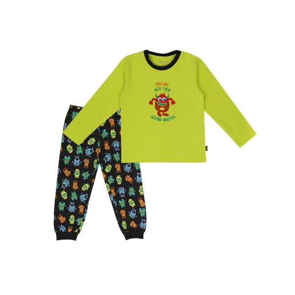 Pijama-KIDS-Niño-Algodñn-Monster-Amarillo