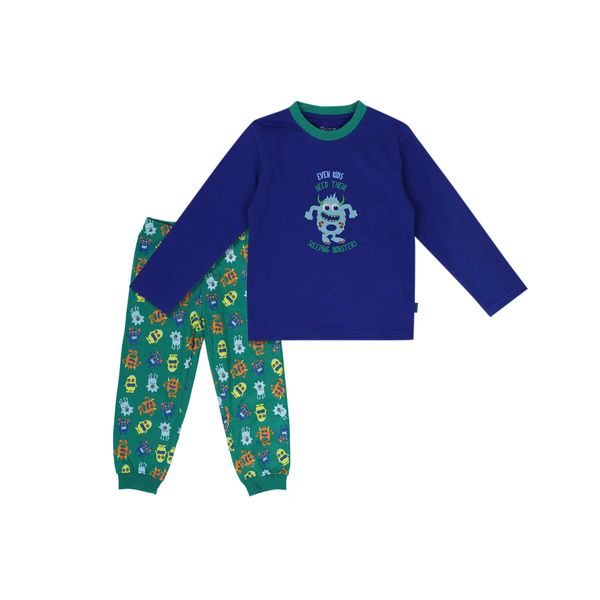 Pijama-KIDS-Niño-Algodñn-Monster-Azul