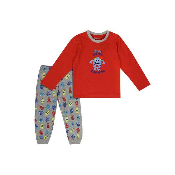 Pijama-KIDS-Niño-Algodñn-Monster-Naranjo