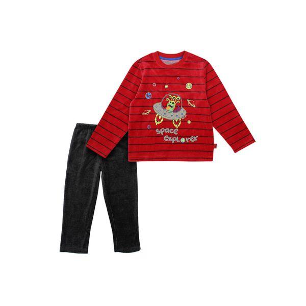 Pijama-KIDS-Niño-Plush-Alienship-Rojo