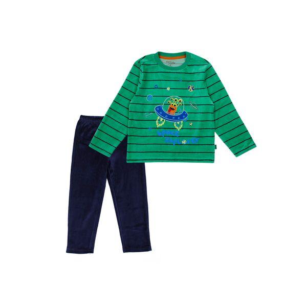 Pijama-KIDS-Niño-Plush-Alienship-Verde