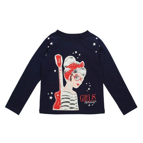 Polera-KIDS-Niña-Rockabilly-Azul