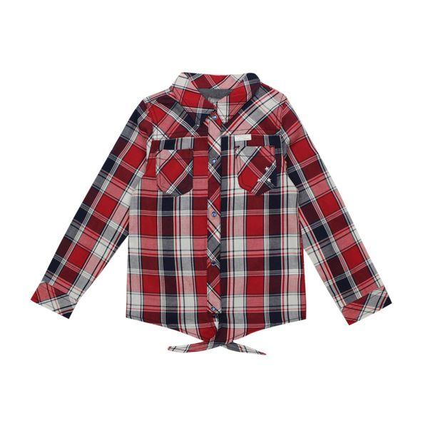 Blusa-KIDS-Niña-Escocesa-Rockabilly-Rojo