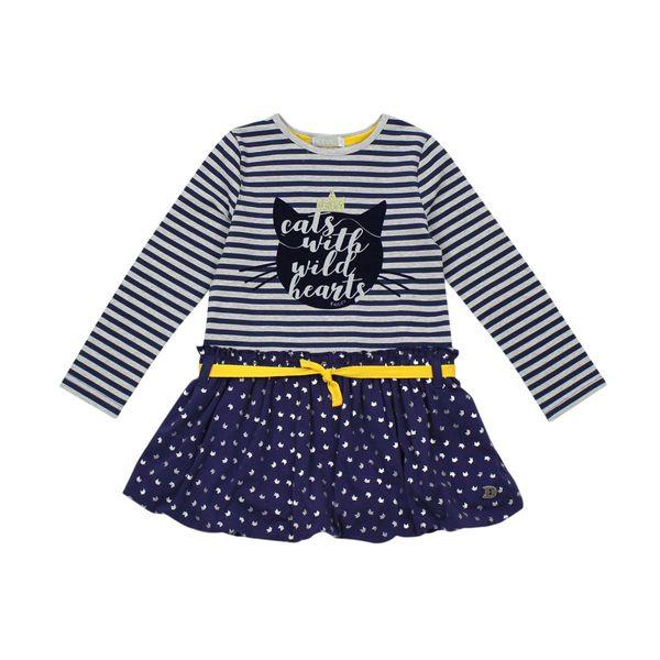 Vestido-KIDS-Niña-Miau-Azul