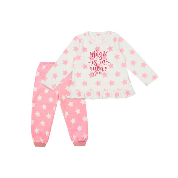Pijama-KIDS-Niña-Plush-Stars-Crudo