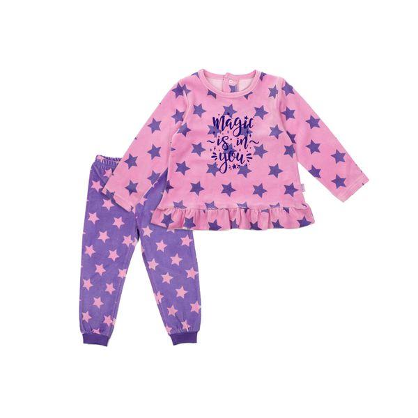 Pijama-KIDS-Niña-Plush-Stars-Rosado