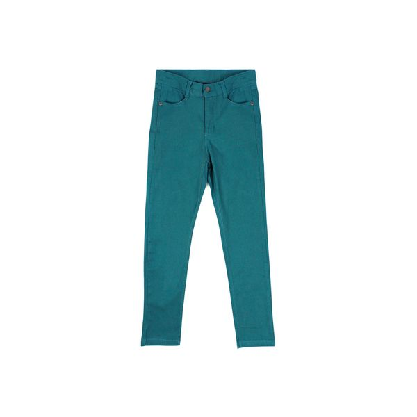 Pantalon-JR-Niña-Gabardina-Day-To-Day-Turquesa