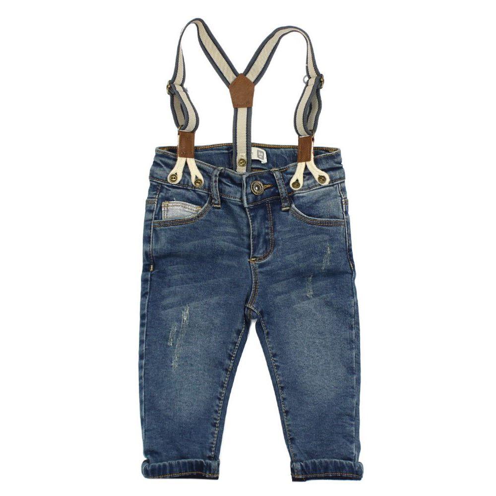 Jeans Con Suspensores Just Denim Bebe Nino Azul 3 A 24 Meses Ficcus